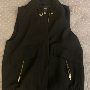 Club Monaco black zip up vest